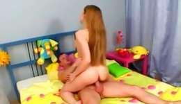 Check this out! Obscene and long-haired lassie getting lengthy shaft innermore her asshole