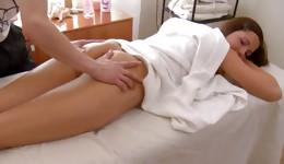 Ideal miss having desirous sensuous intercourse with her masseur