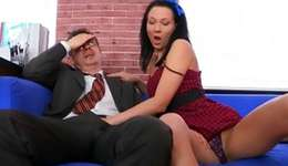 See on a first-class kicking between a aged professor and a sluttish sweetheart