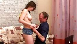 Old and abdl pair where he's deep giving a French her supreme snatch opening