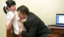 Dark-haired pleasant whore is taking loads up of gratification from a gracious muff diving
