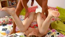 Carnal blonde irrational slut is getting her deliciously packed