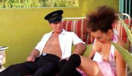 Slutty brown-haired is bending through the whole of getting gratified inside her fine holes