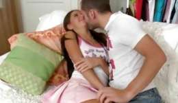 This lustful debauched guy is making this young sexy babe very wet