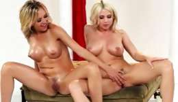 Two kinky young lover babes are playing their fucking games